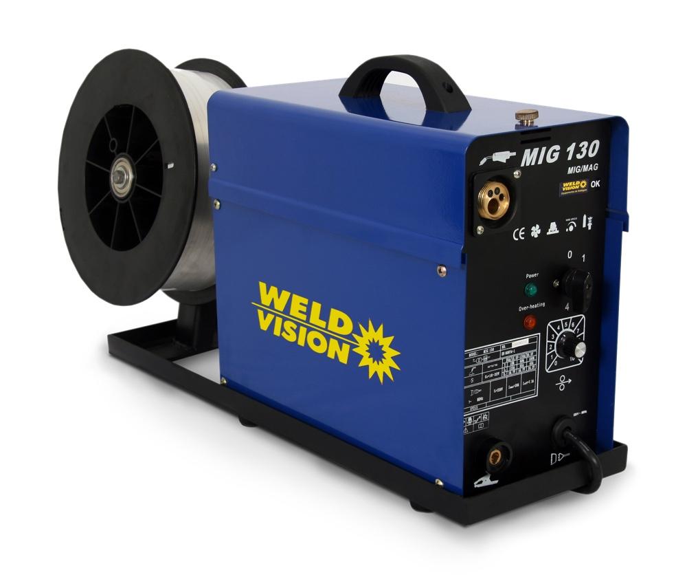 Solda Mig Monofásica WeldVision MIG130 + tocha EuroConector
