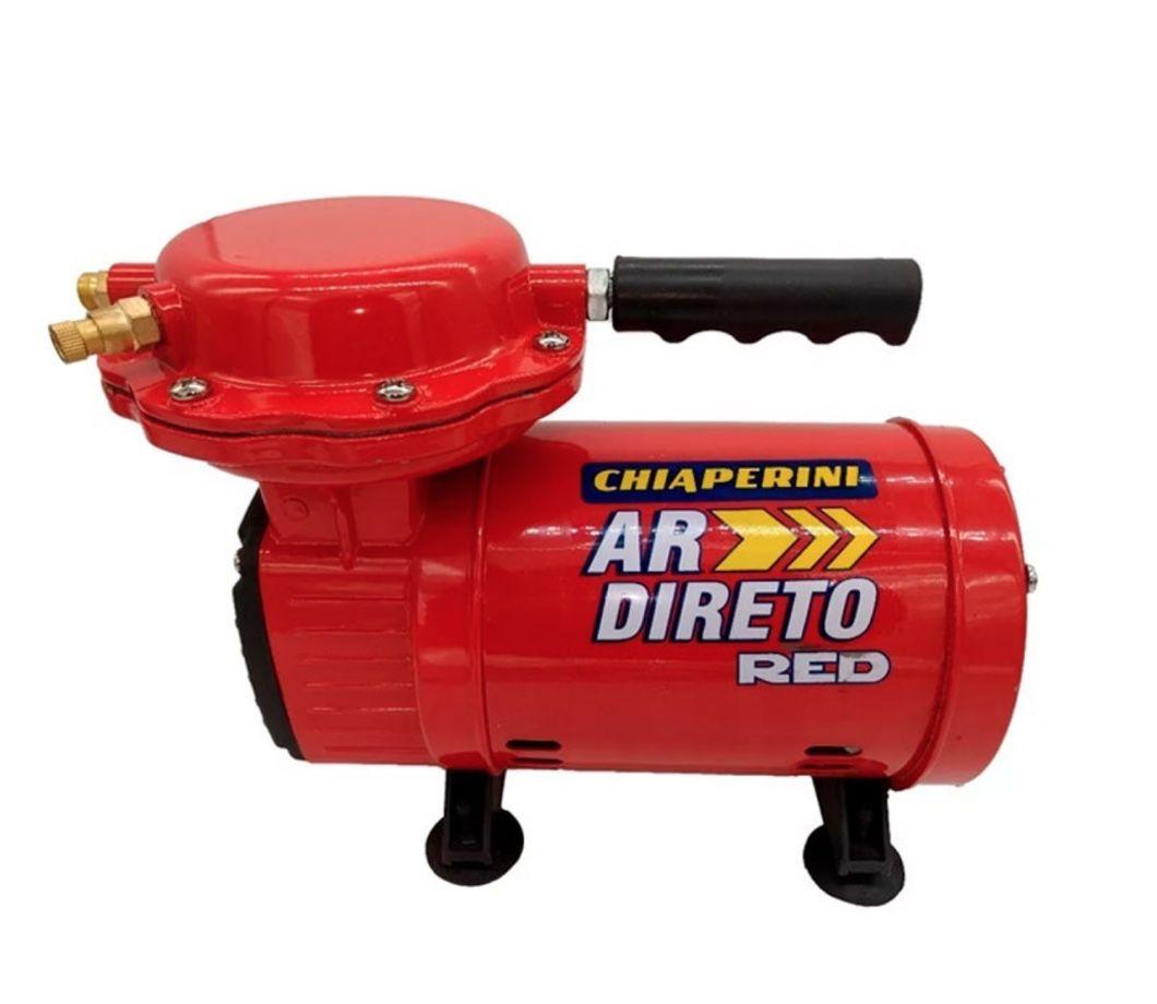 Compressor Ar Direto Bivolt Chiaperini RED c/ Kit Pintura