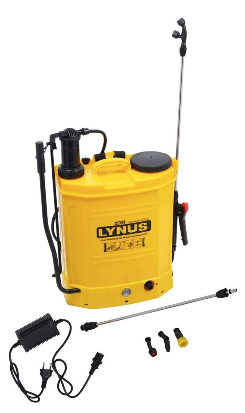 Pulverizador Costal a Bateria e Manual Lynus PL-18B 18 litros