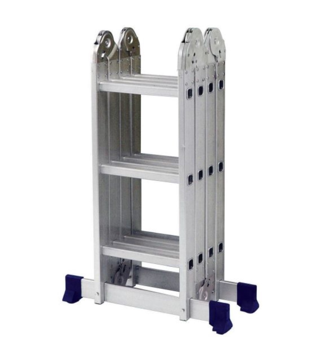 Escada Articulada Multifuncional Aluminio MOR 4x4 16 degraus