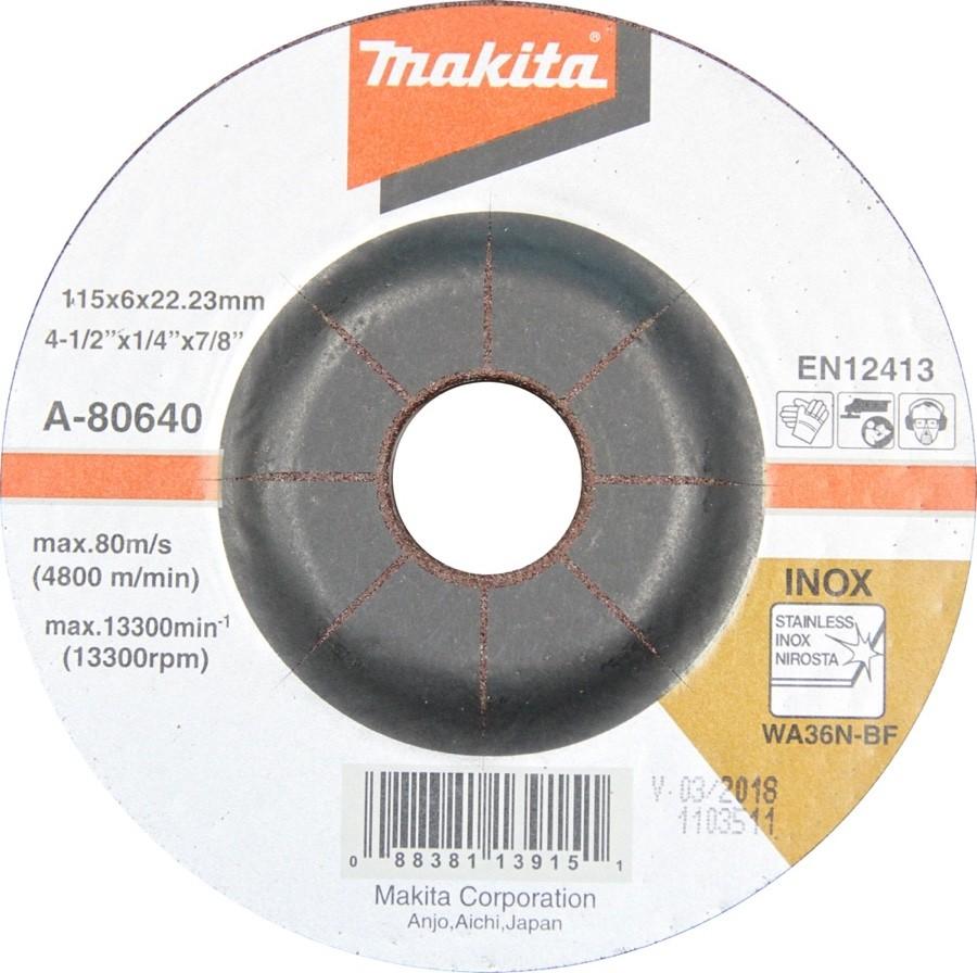 """Esmerilhadeira à bateria Makita 4.1/2"""" DGA455RFE3 + 03 Baterias 18V 3Ah + Carregador Rápido Bivolt + Maleta"""