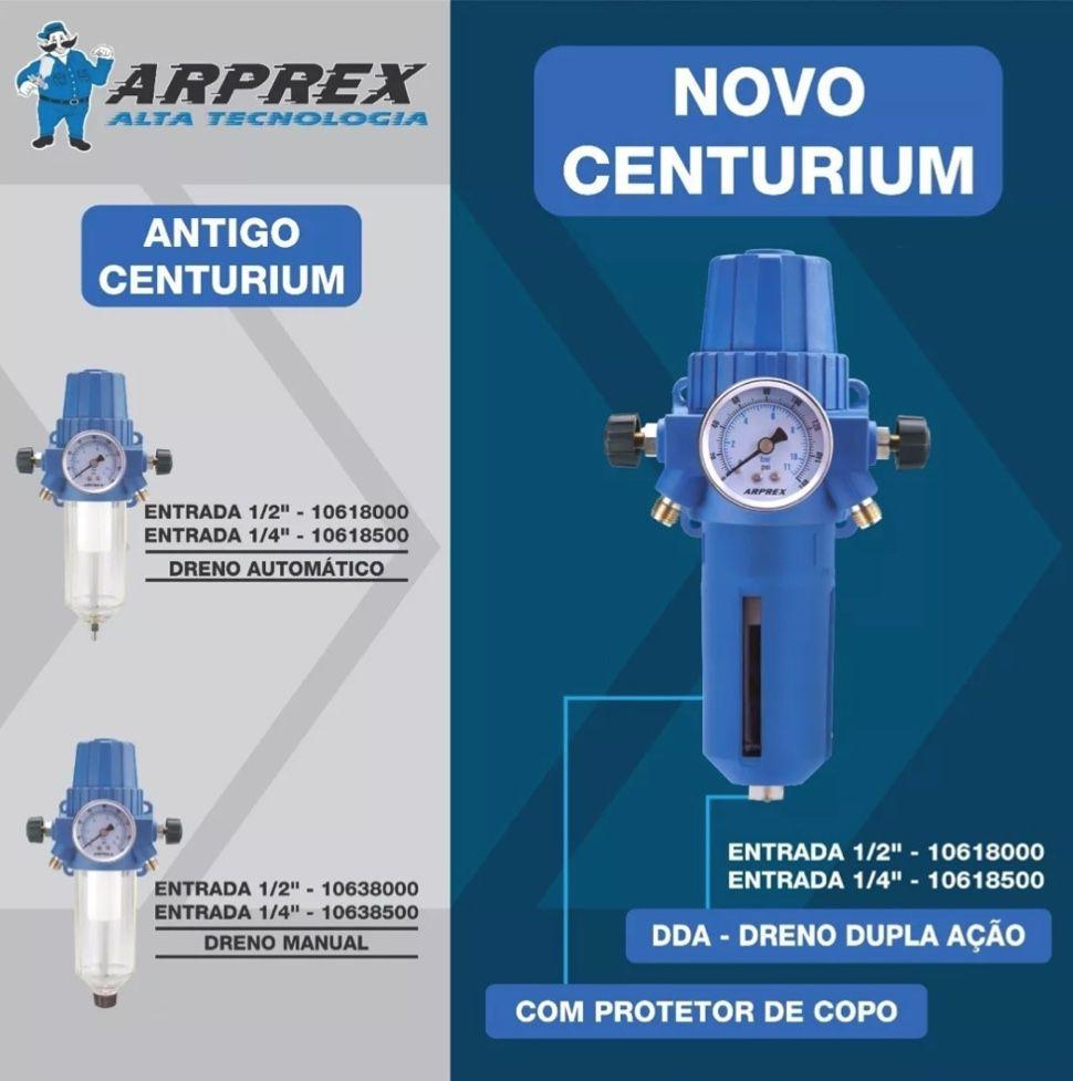 Filtro de Ar e Regulador Pressão Arprex Centurium