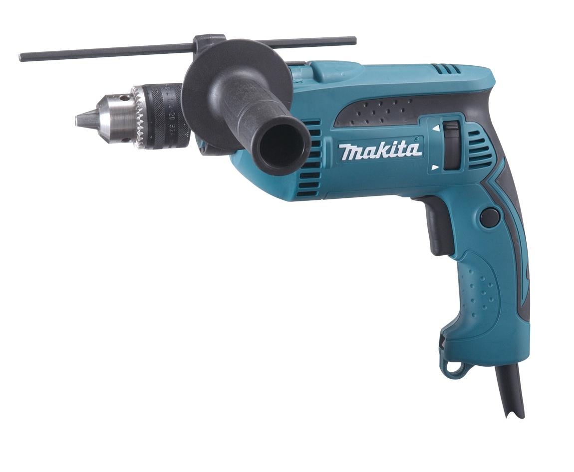 "Furadeira Impacto Makita 1/2"" 760w HP1640 com Kit Brocas"