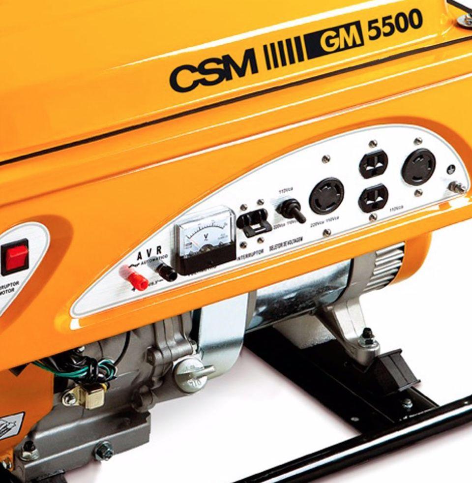 Gerador Energia CSM GM5500 5,5KVA | Monofásico | Bivolt | Motor 11HP 4T