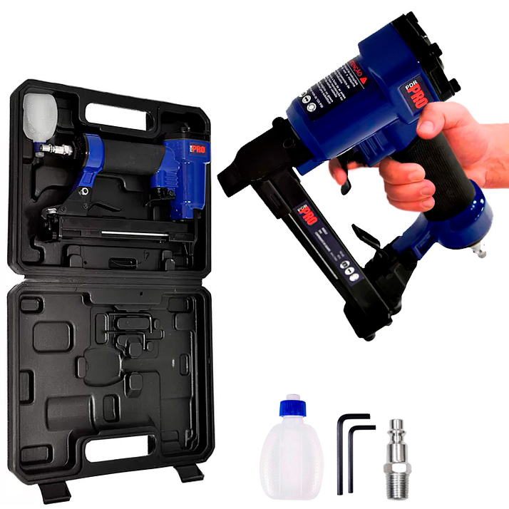 Grampeador a Ar Pneumatico PDR PRO-600 para 100 Grampos 6 a 16mm PCW/80 1/4