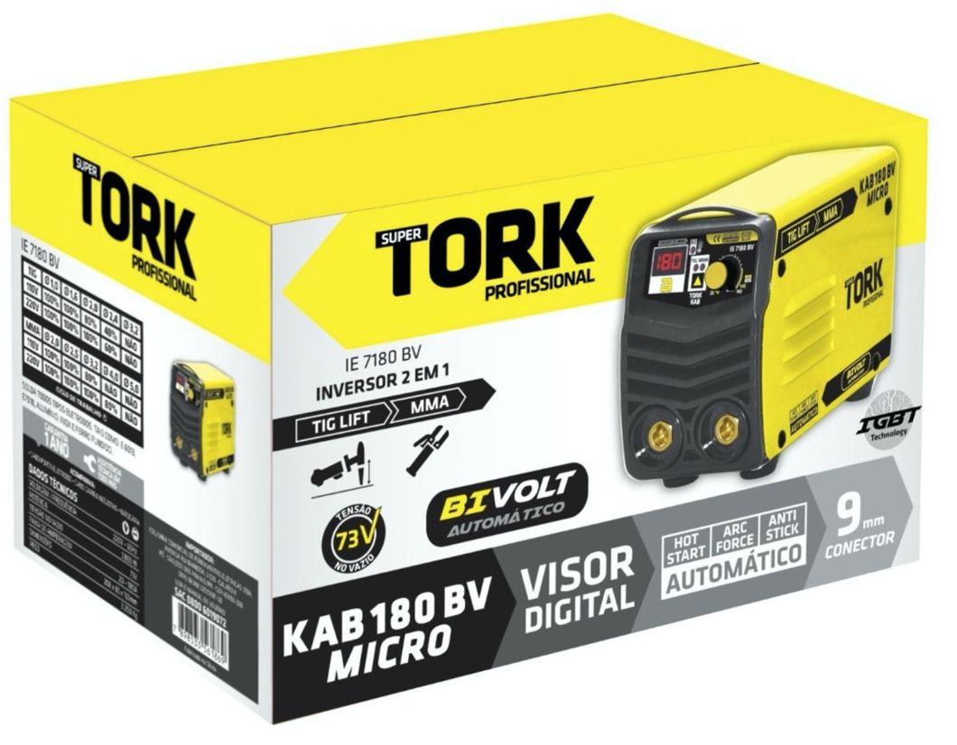 Inversora Solda SuperTork 180A IE-7180 Bivolt