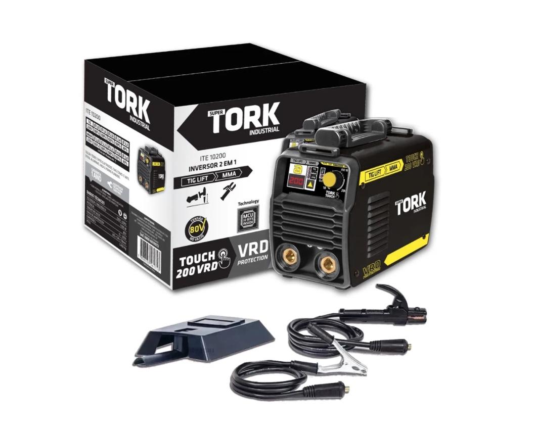 Inversora Solda SuperTork ITE-10200 220v 2x1 (TIG-Eletrodo)