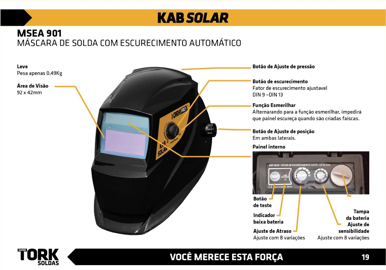 Inversora Solda SuperTork KAB Micro IE-6180 + Máscara Auto Escurecimento MSEA 901