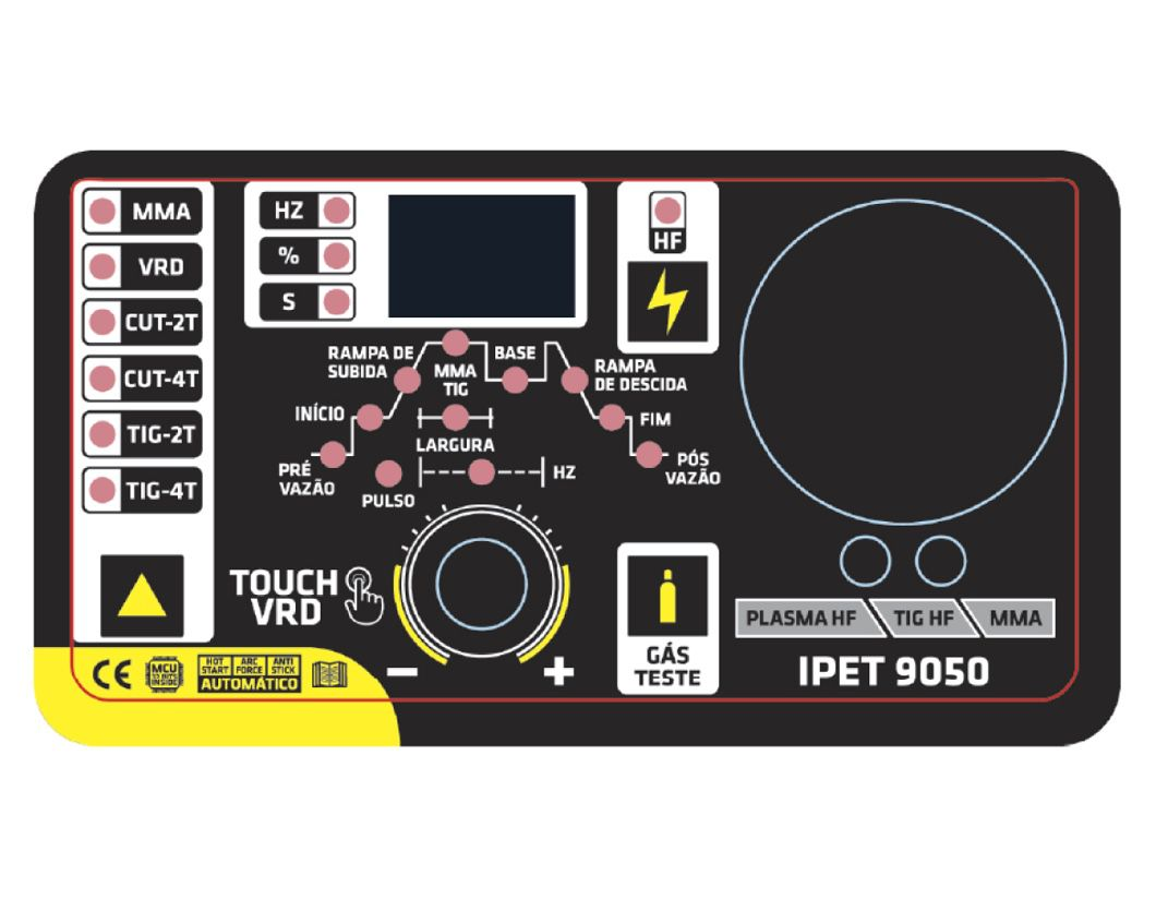 Inversora Solda SuperTork Touch 200 IPET 9050 220v 3x1 (Plasma HF - TIG HF - MMA VRD)