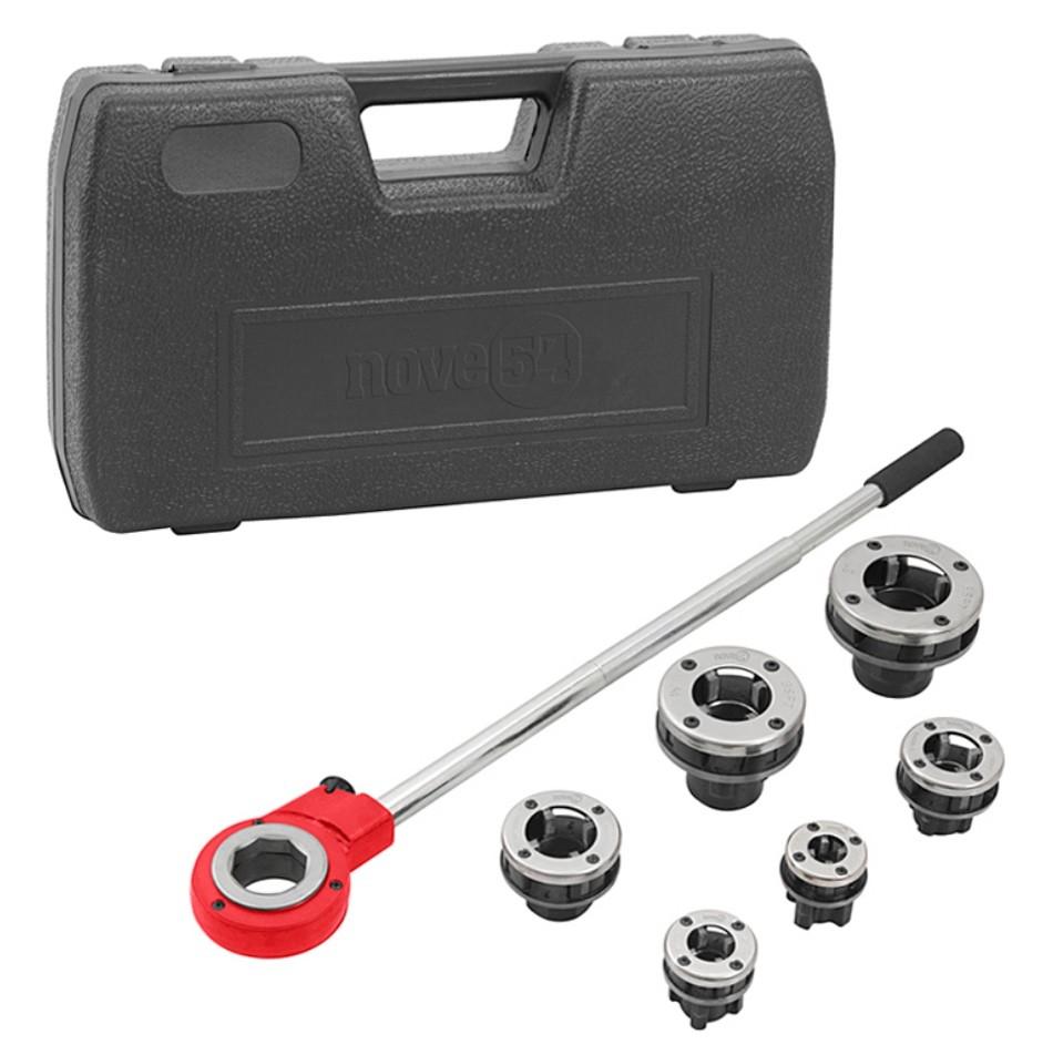 """Jogo de Tarraxa Manual para tubos metálicos Nove54 de 1/2"""" à 2"""""""