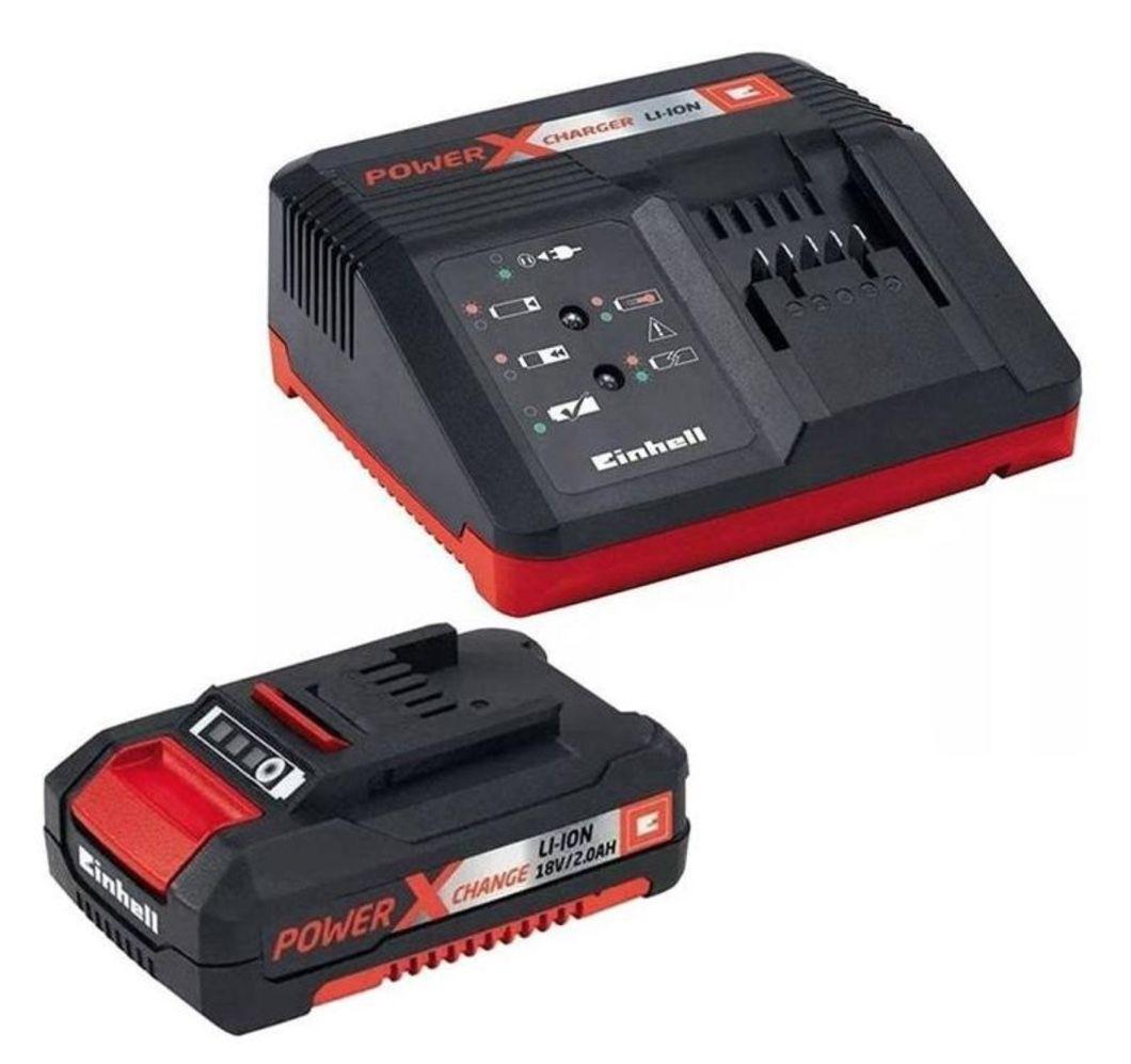 Kit PXC Einhell Carregador Bivolt + Bateria 18V 2Ah