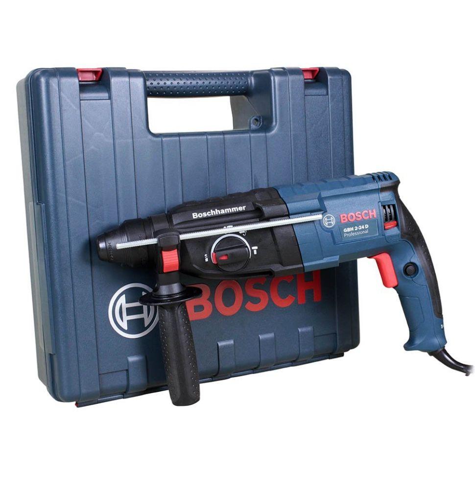 Martelete Rotativo e Rompedor Bosch 820w GBH2-24D com maleta