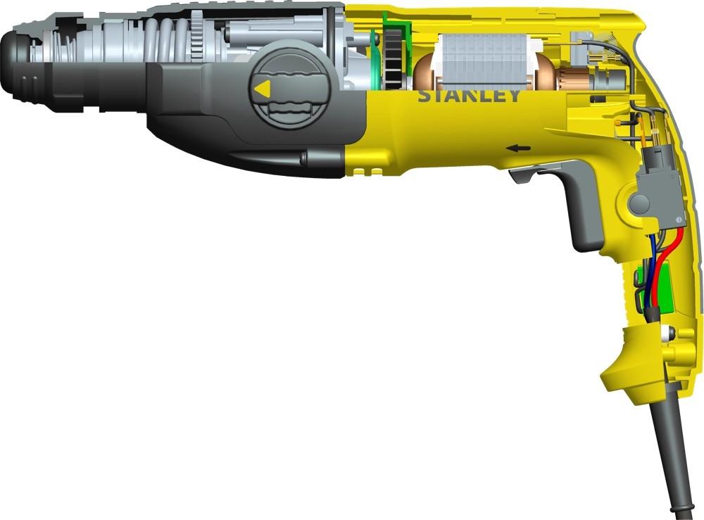 Martelete Rotativo e Rompedor Stanley 800w SHR263K com maleta