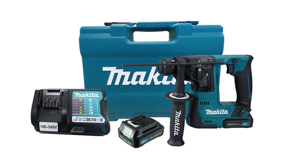 Martelete Rotativo Makita a Bateria HR140DWYE1 com maleta de acessórios