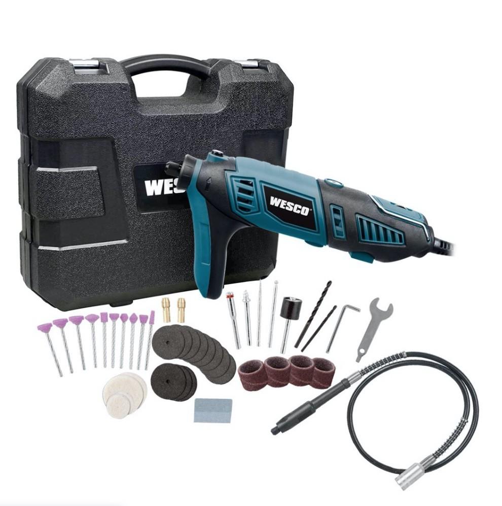 Micro Retifica Eletrica 160w WESCO WS3113K com maleta e 40 acessórios