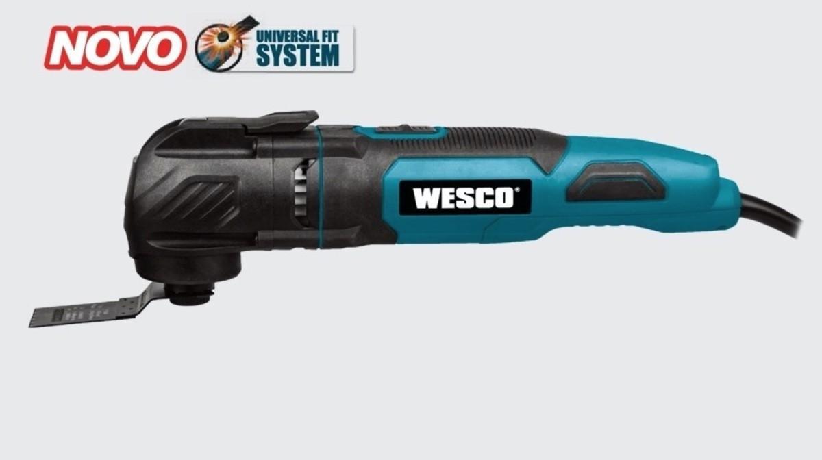 Multi Ferramenta Cortadora Oscilante WESCO 300w WS5123K com bolsa e 14 acessórios