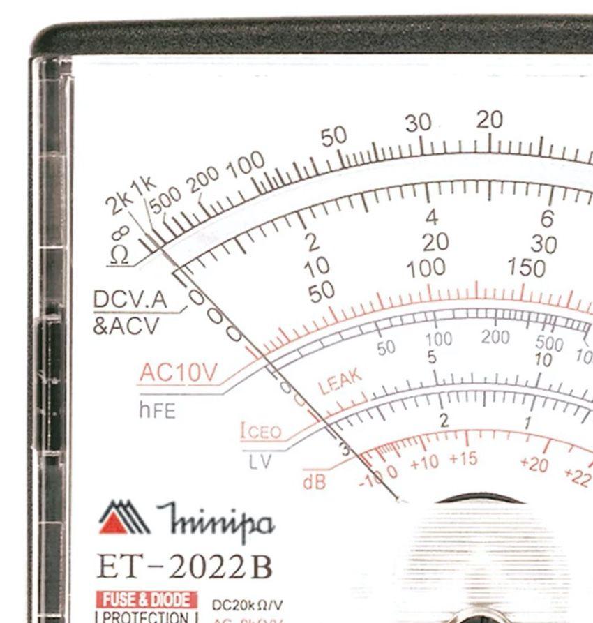 Multímetro Analógico Minipa ET-2022B