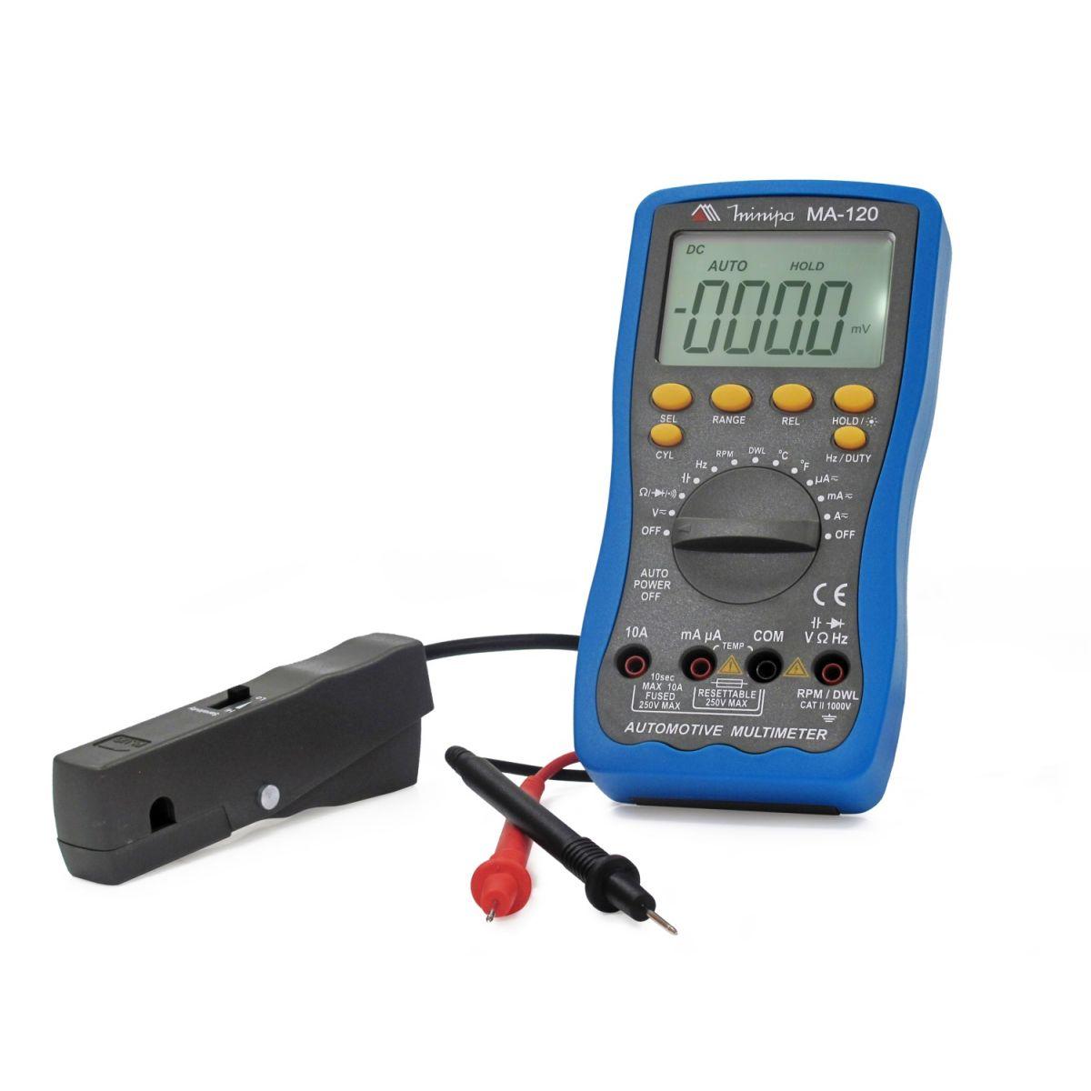Multímetro Digital Automotivo Minipa MA-120