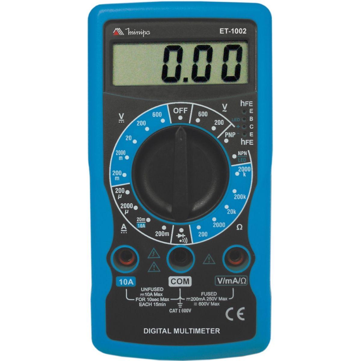 Multímetro Digital Minipa ET-1002