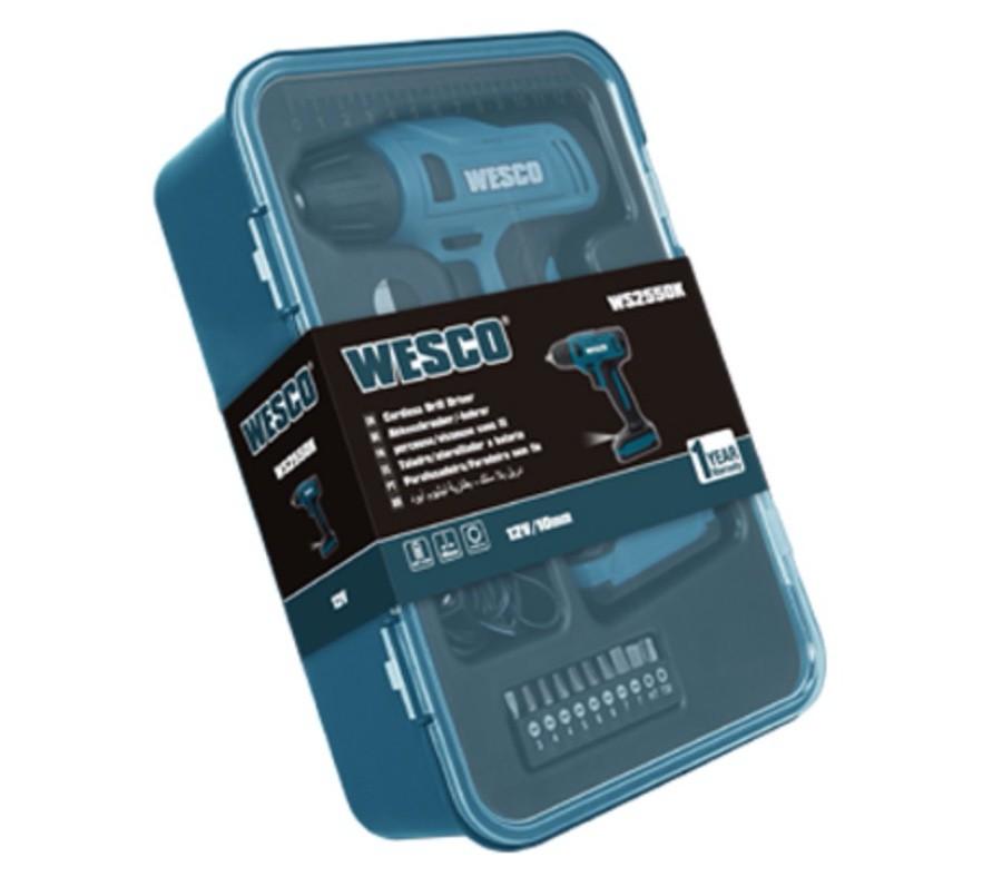 """Parafusadeira / Furadeira Bateria Wesco 3/8"""" 10mm 12v WS2550K + carregador bivolt"""