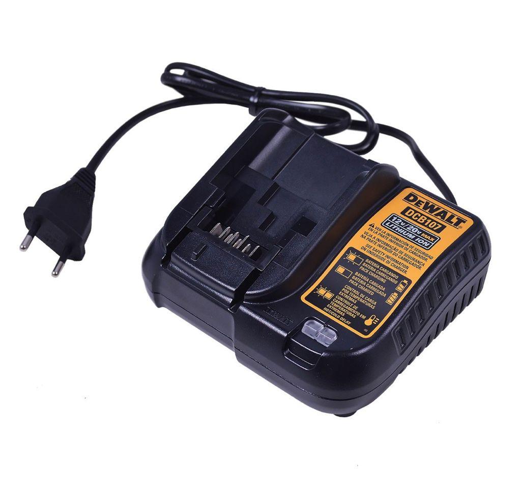 """Parafusadeira / Furadeira Dewalt 3/8"""" DCD700LC1-BR + 01 Bateria 12V + Carregador Bivolt"""