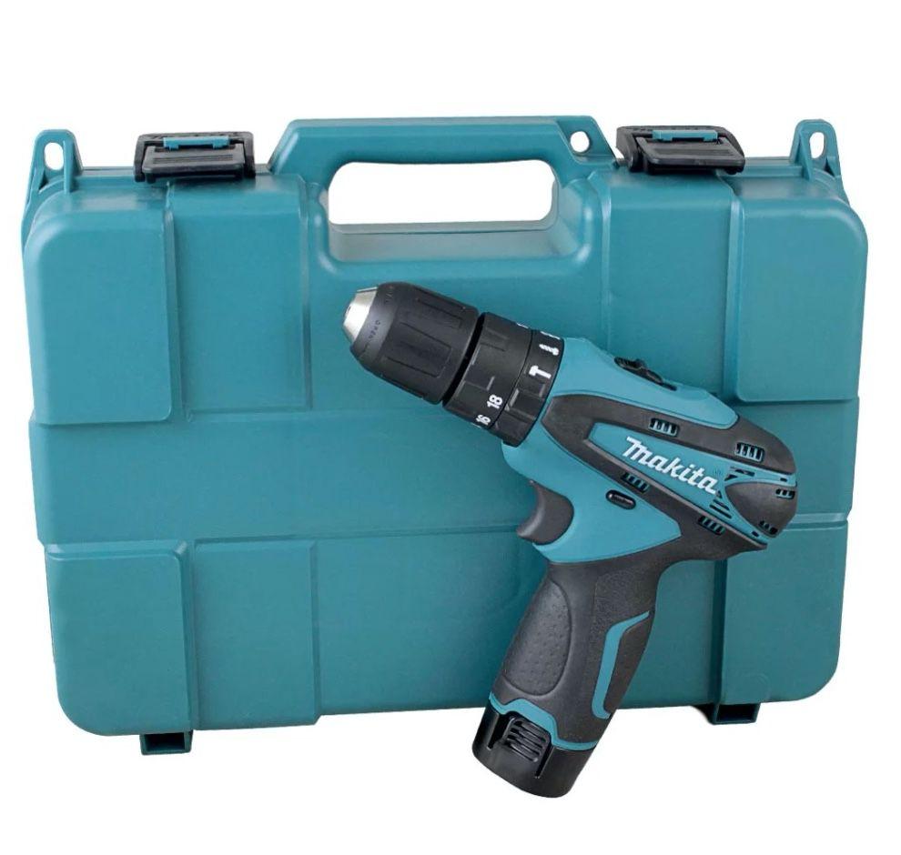 """Parafusadeira / Furadeira Impacto Makita 3/8"""" 12v HP330DWE com 2 baterias + carregador bivolt + coldre e maleta"""