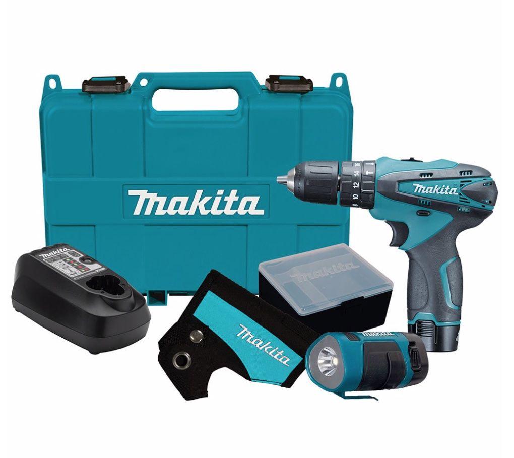 """Parafusadeira / Furadeira Impacto Makita 3/8"""" 12v HP330DWLE com 2 baterias + carregador bivolt + coldre + lanterna e maleta"""