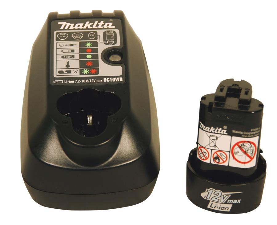 """Parafusadeira / Furadeira Impacto Makita 3/8"""" 12v HP2016D com 02 baterias + carregador + coldre e maleta"""