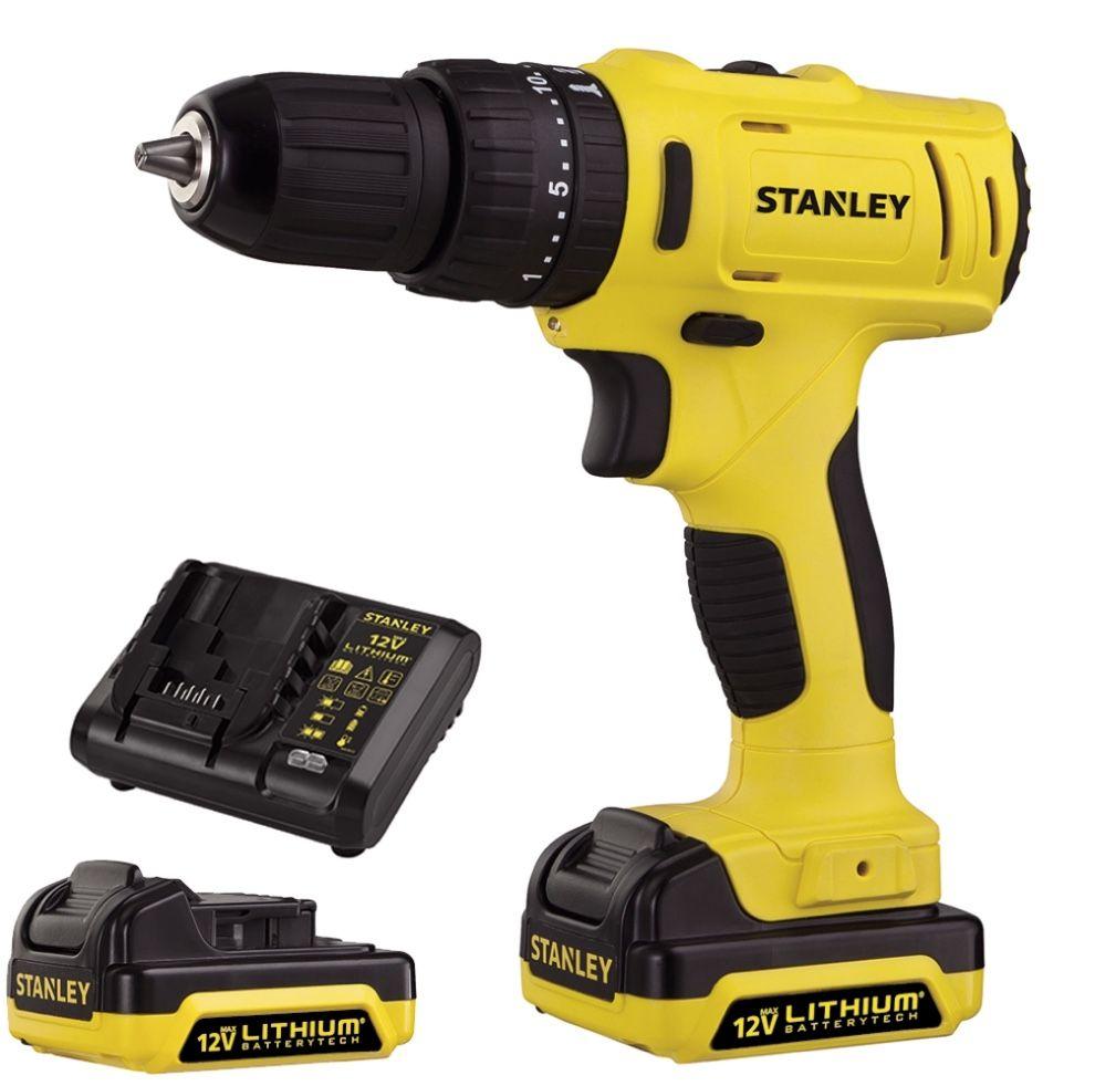 Parafusadeira / Furadeira Impacto Stanley 12v SCH12S2K + 02 baterias + Carregador Bivolt