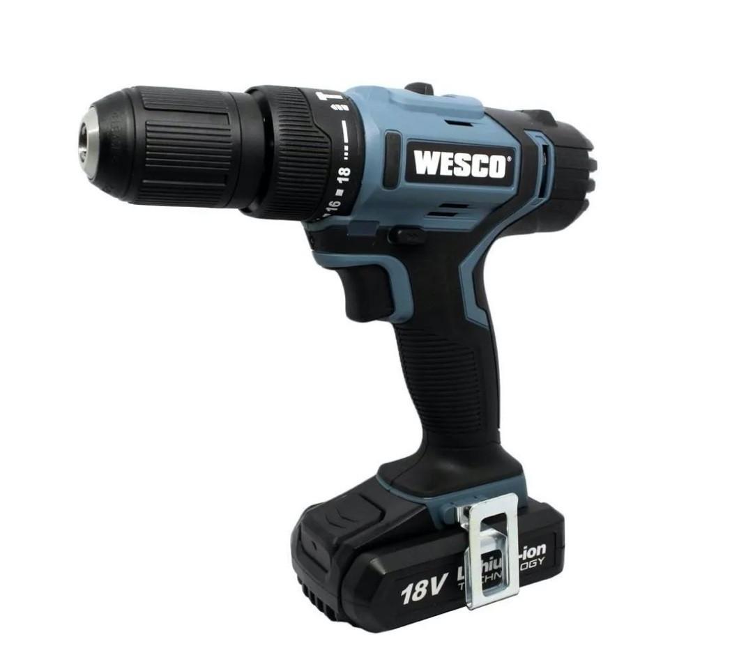 """Parafusadeira / Furadeira Impacto Wesco 1/2"""" 13mm 18v WS2937 + 01 bateria + carregador bivolt"""