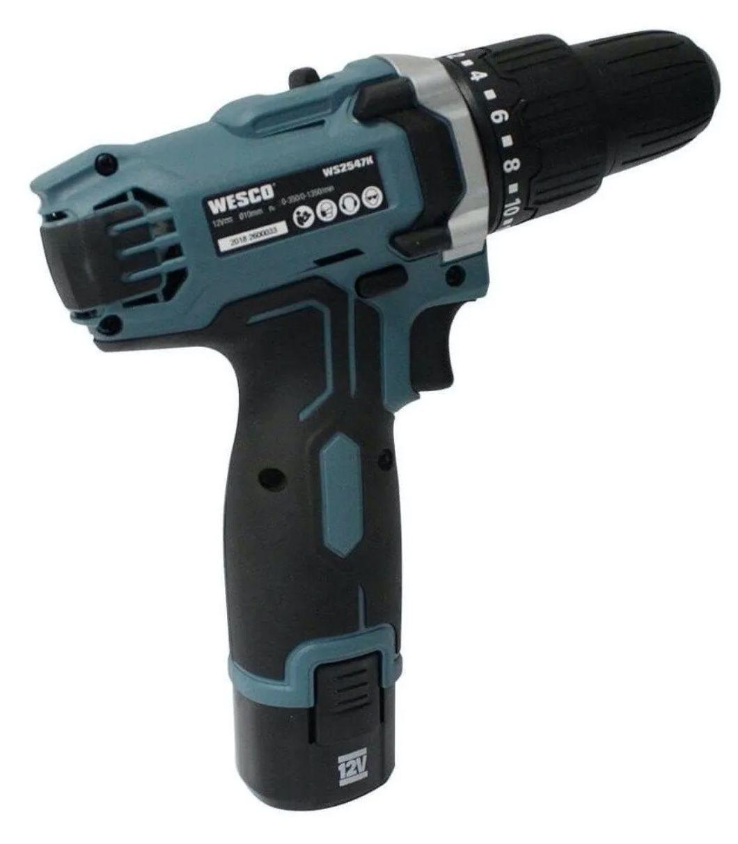 "Parafusadeira / Furadeira Impacto Wesco 3/8"" 10mm 12v WS2547 + carregador bivolt"