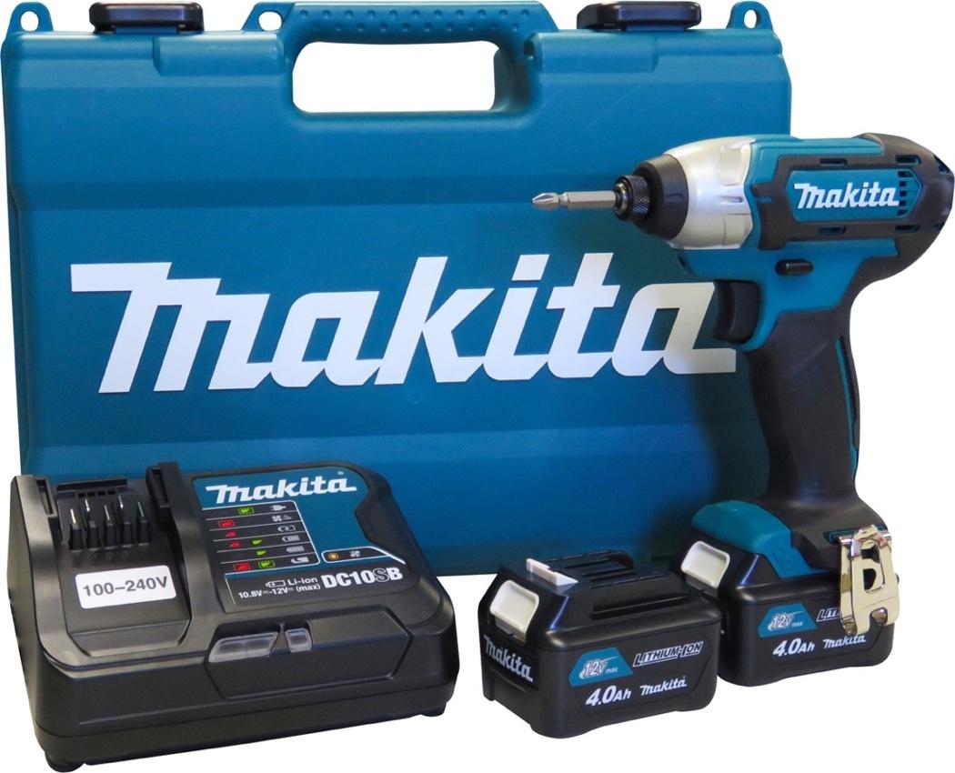 Parafusadeira Impacto Makita 12V TD110DSME com 02 baterias 4Ah + carregador rápido bivolt e maleta