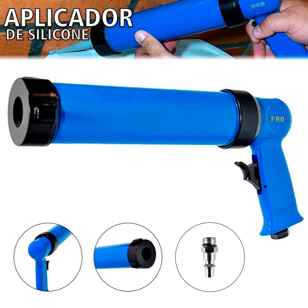 Pistola Aplicadora de Silicone e Calafetador Pneumatico PDR PRO-207 para Tubo 400ml