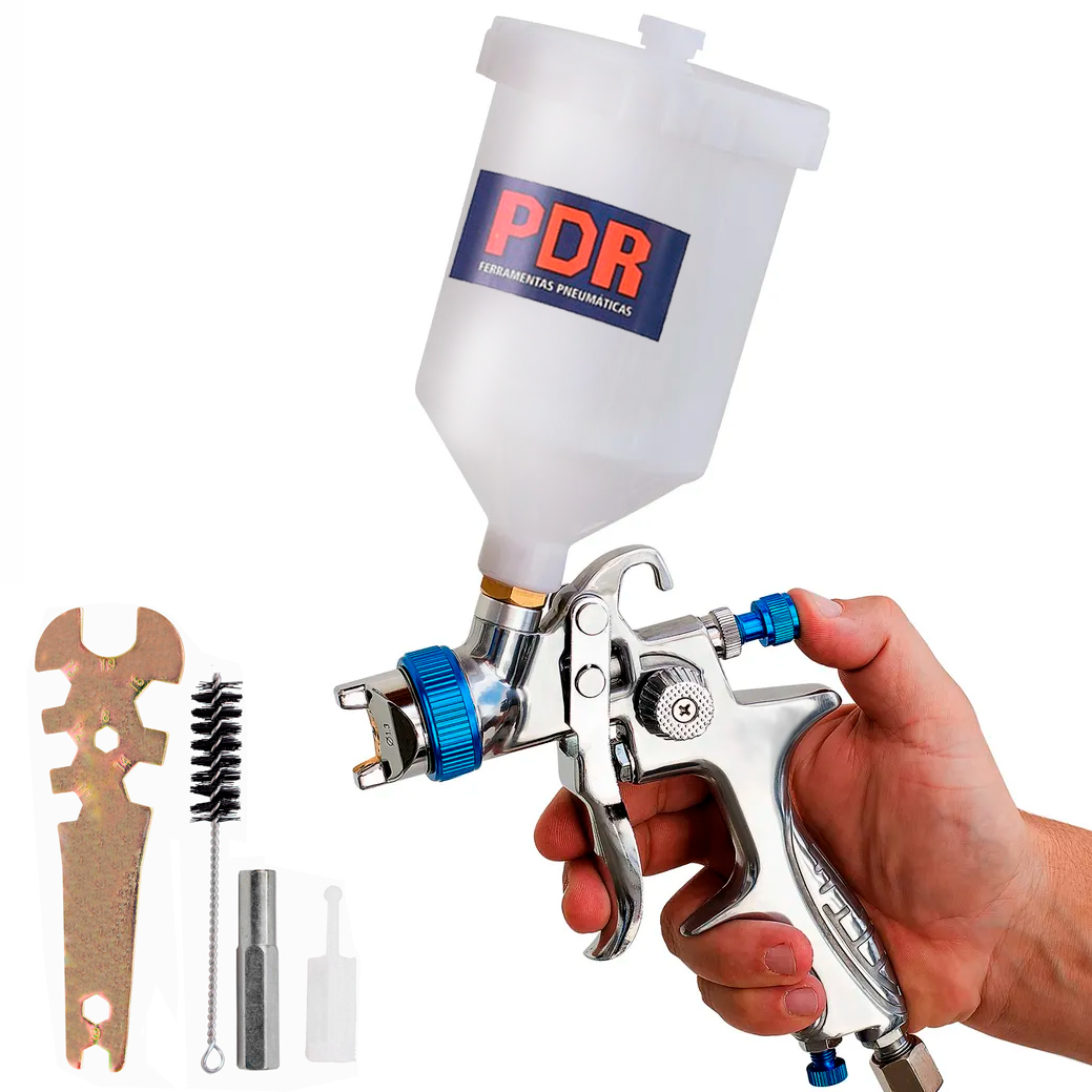 Pistola Pintura PDR PRO-530 HVLP Gravidade 600ml Bico 1,3mm