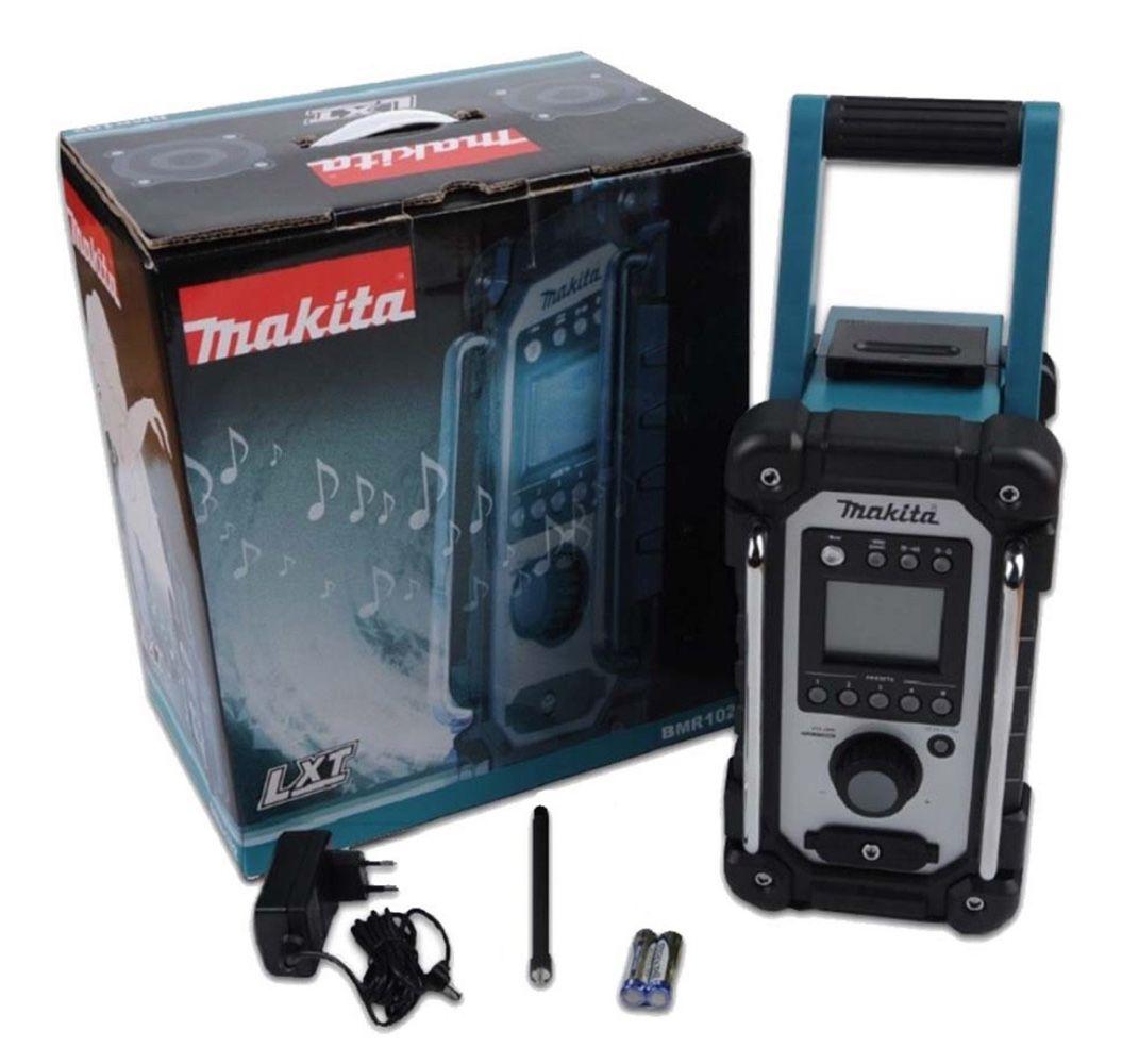 Rádio Profissional AM/FM Makita BMR102 + 2 Entrada Aux + Fonte Alimentação