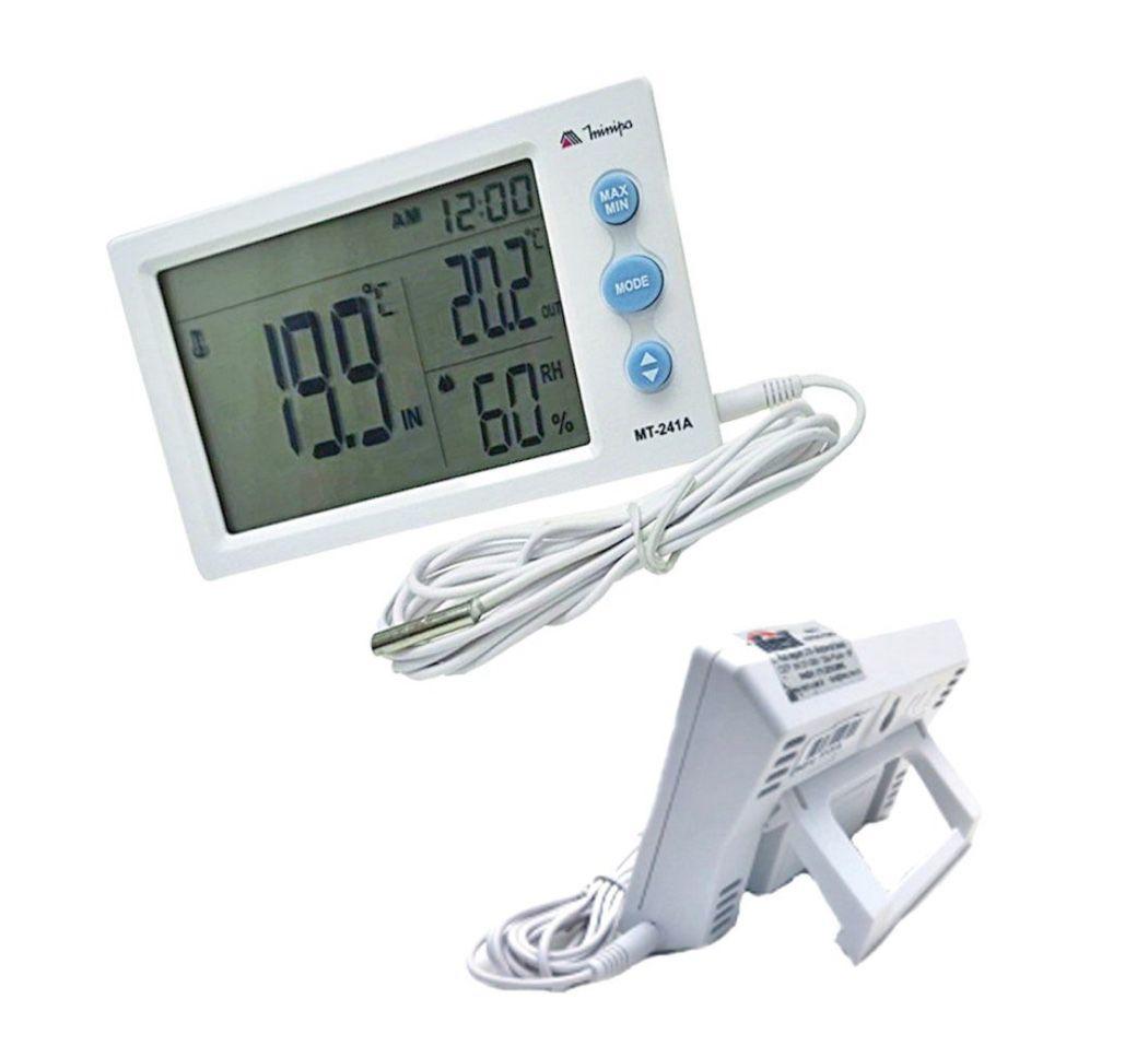 Relógio Termo-Higrômetro Digital Minipa MT-241A