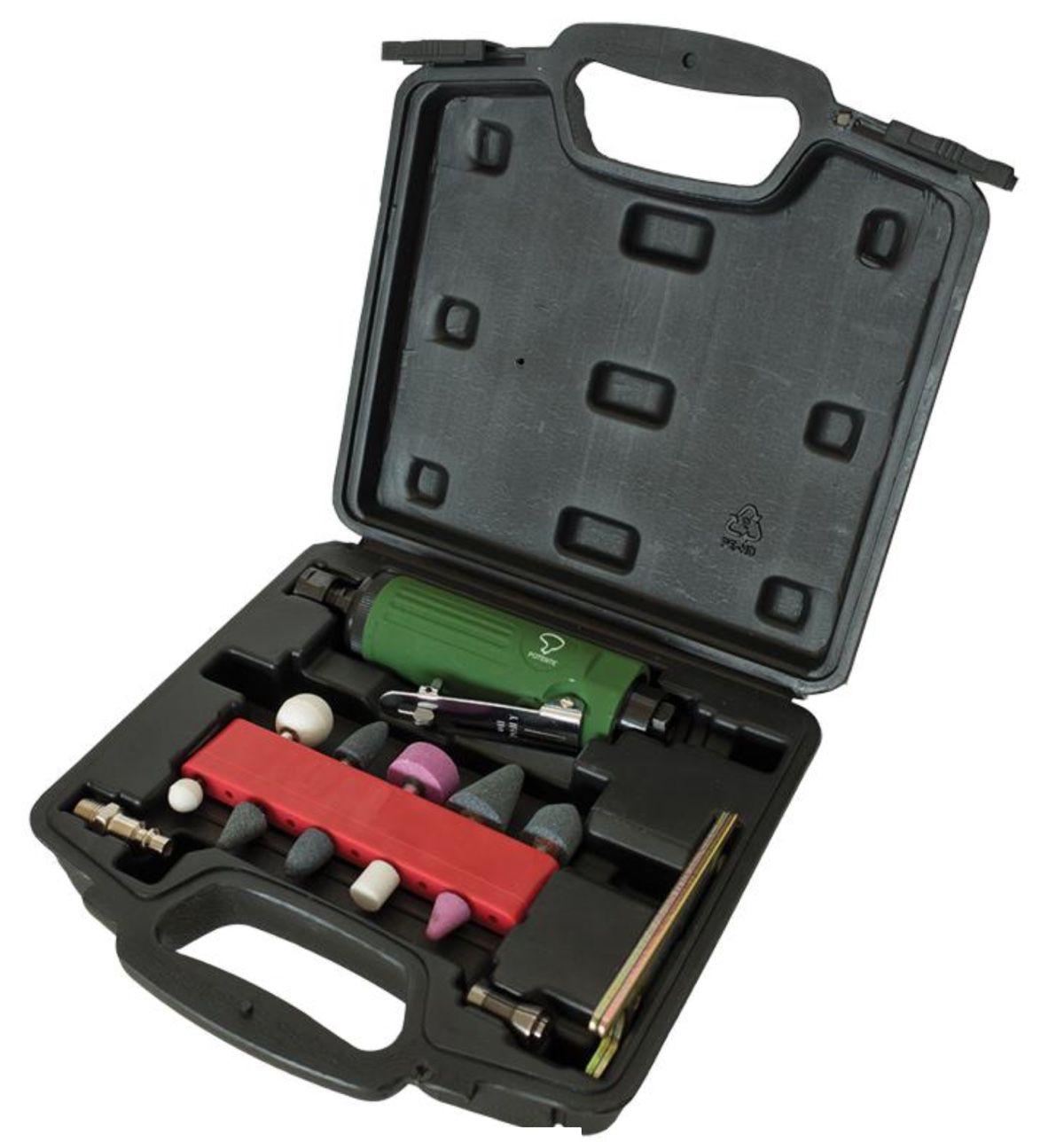 Retifica Pneumática Potente PNW140210 + kit de acessórios