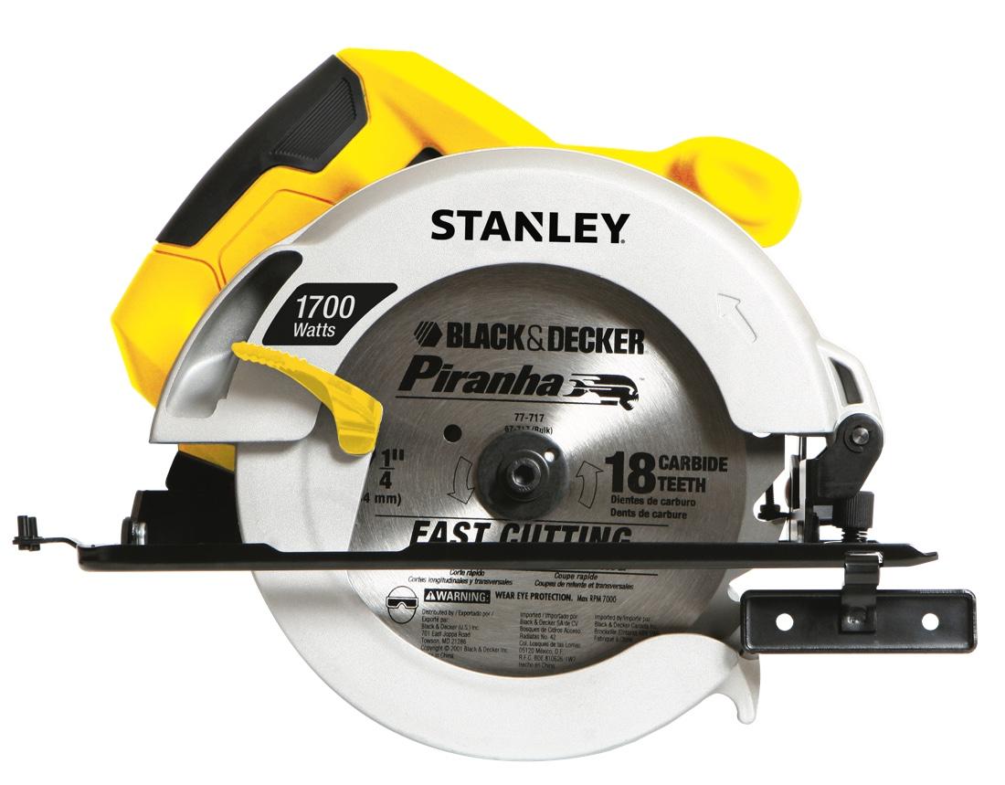 """Serra Circular Stanley 7.1/4"""" 1700w STSC1718"""