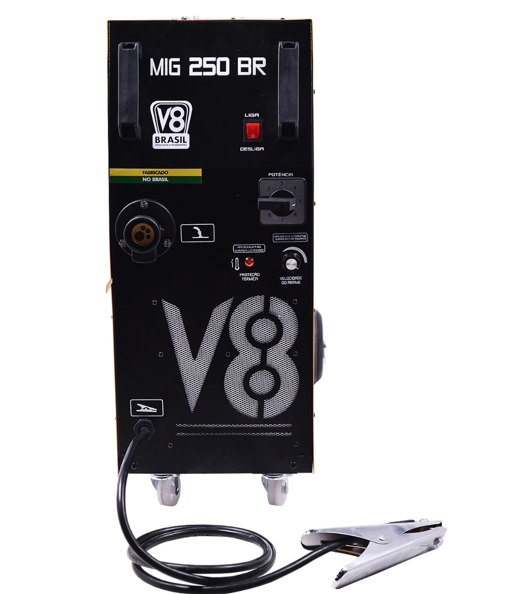 Solda Mig Monofásica V8 Brasil 250BR