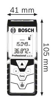 Trena à Laser Bosch GLM40
