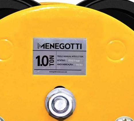 Trole Manual MENEGOTTI MTR 1000 com Capacidade de 1 Tonelada