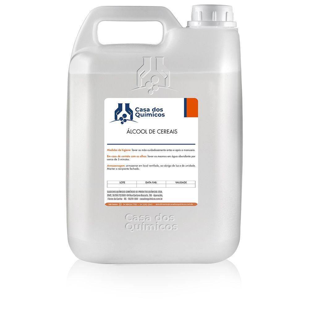 Álcool de Cereais 96° 5000 ml  - Casa dos Químicos