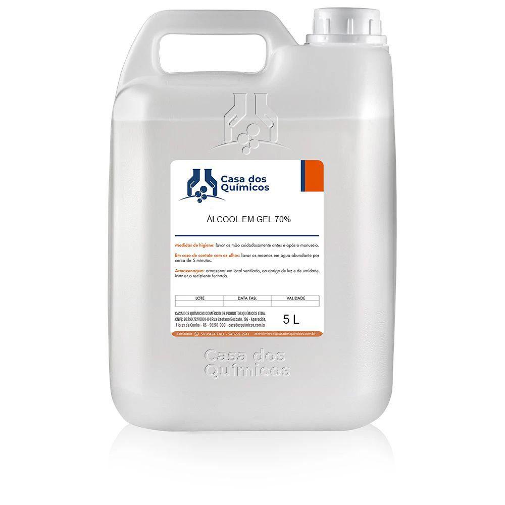 Álcool em Gel 70% 5000 ml  - Casa dos Químicos