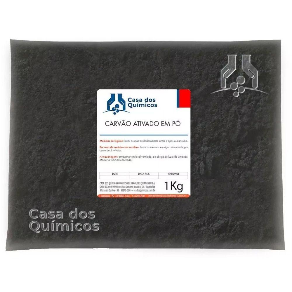 Carvão Ativado Vegetal Pó 1 Kg  - Casa dos Químicos