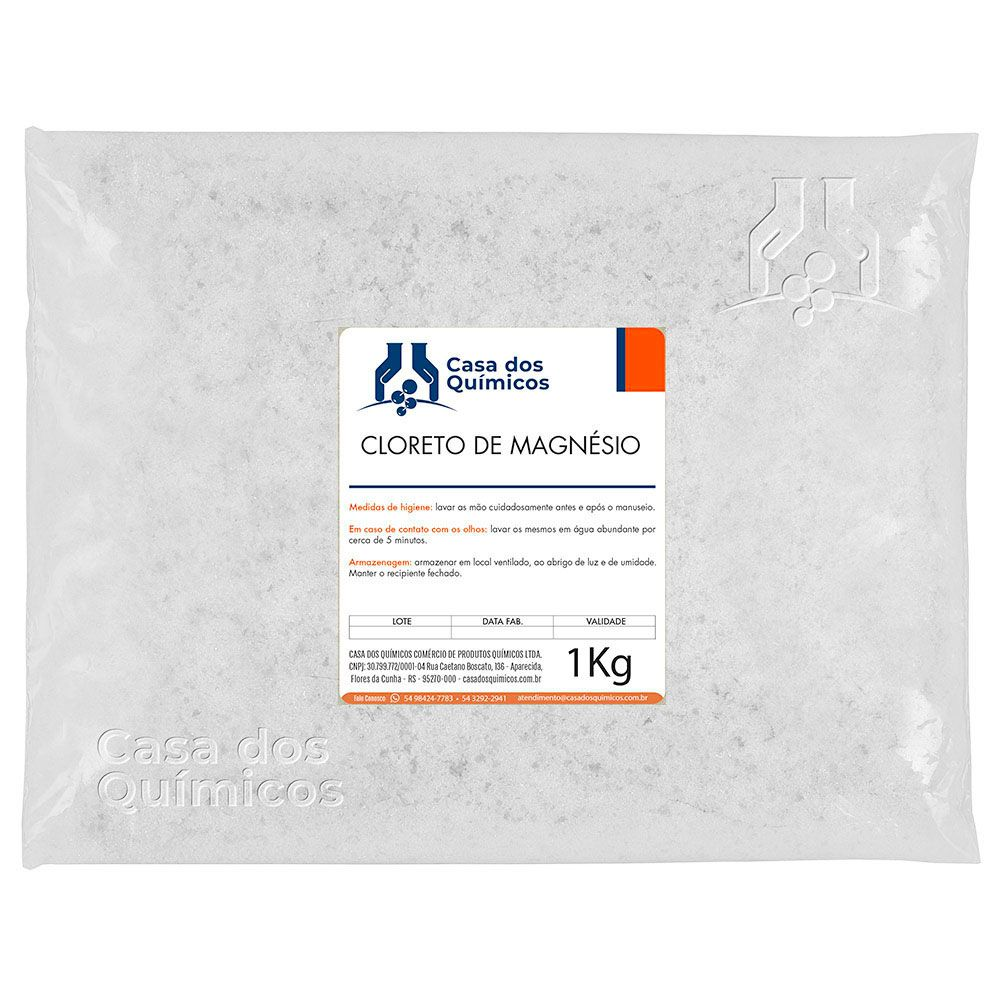 Cloreto de Magnésio P.A. Embalagem de 25 Kg  - Casa dos Químicos