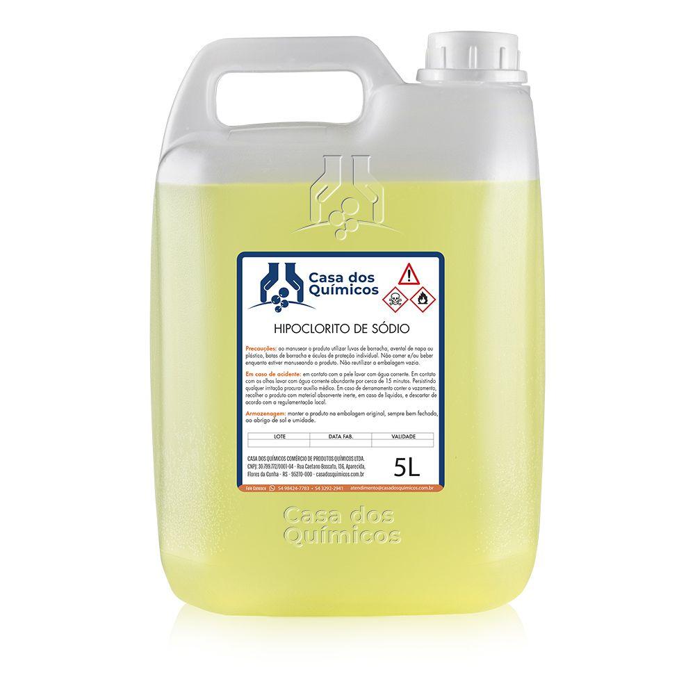 Hipoclorito de Sódio 12% 5000 ml  - Casa dos Químicos