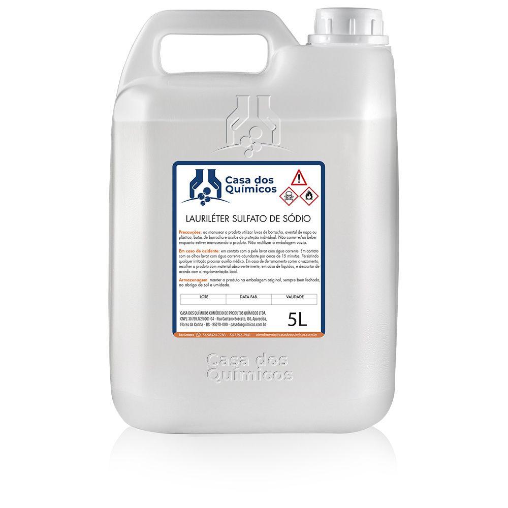 Lauriléter Sulfato de Sódio 5000 ml  - Casa dos Químicos