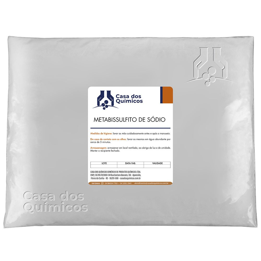 Metabissulfito de Sódio Embalagem de 25 Kg