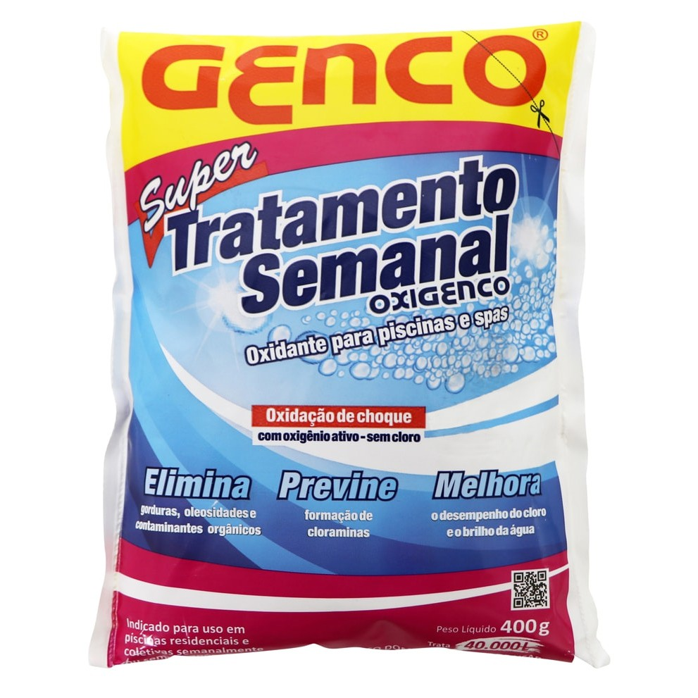 Oxigenco Tratamento Semanal Oxidante Genco 400 Gramas