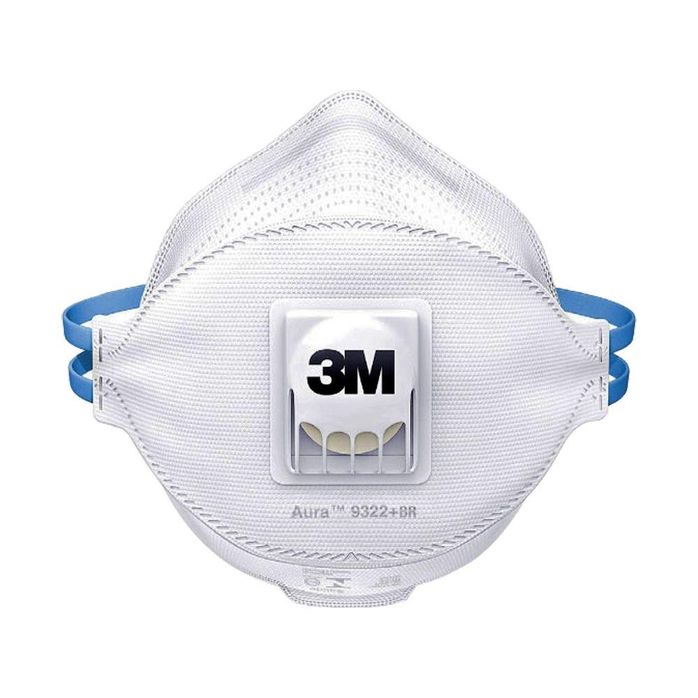 Respirador 3m 9322 Br Aura Desc Valvulado PFF2 CA 30594